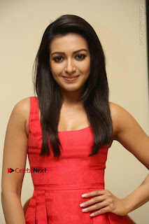 Actress Catherine Tresa Latest Pos in Red Short Dress at Intex Air Conditioners Launch  0001.jpg