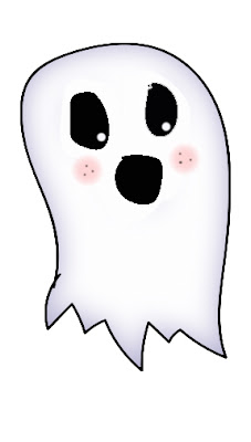 free jpeg clipart image of a ghost character made in adobe illustrator