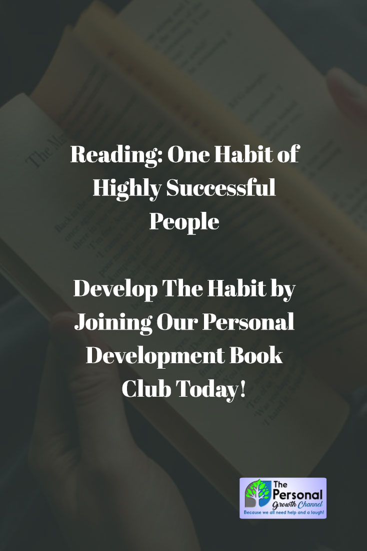 Develop a Reading Habit With Our Personal Development Book Club: Man Reading a Book