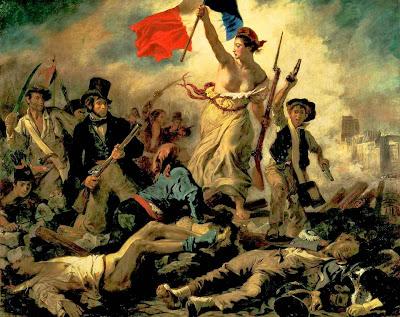 Resultado de imagen de la libertad guiando al pueblo