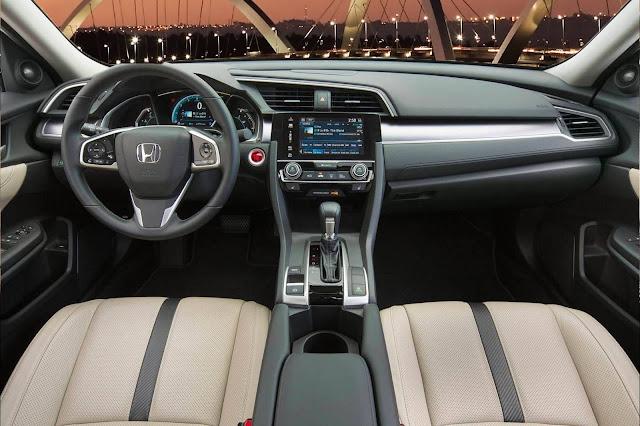 Novo Honda Civic 2017 - interior - painel - Brasil