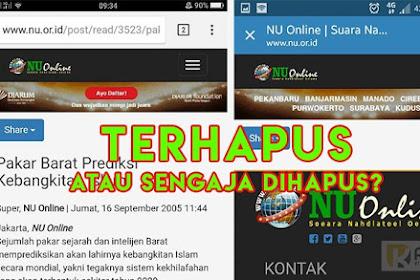"""Ketahuan Pernah Tulis Prediksi Kebangkitan Islam """"Khilafah"""" Website NU Online Menghapus Beritanya?"""