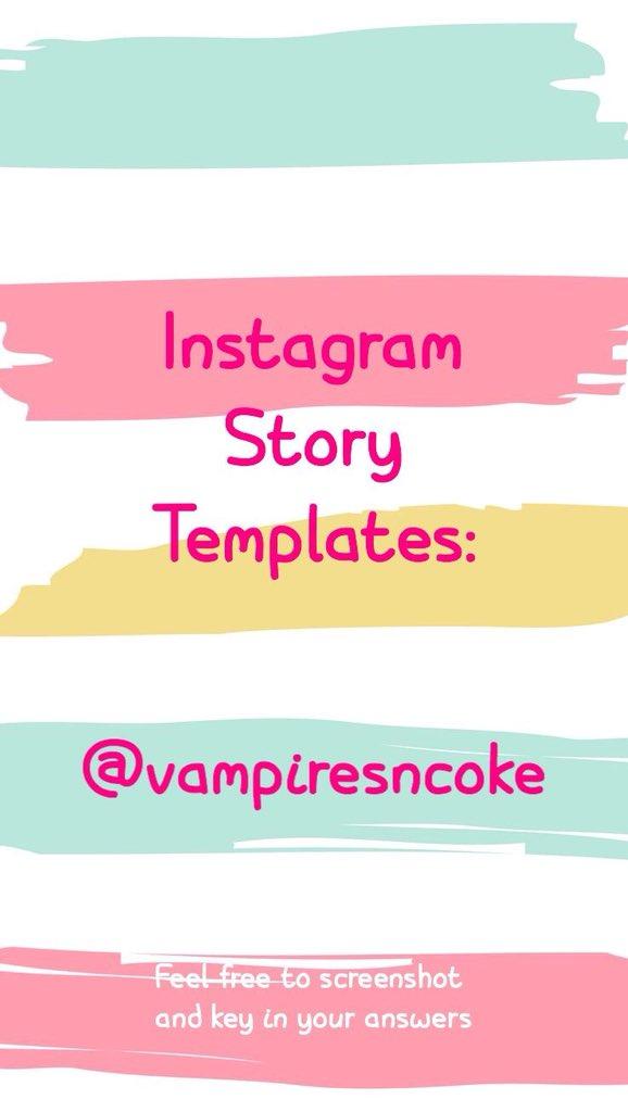 Instagram Story Template by vampiresncoke