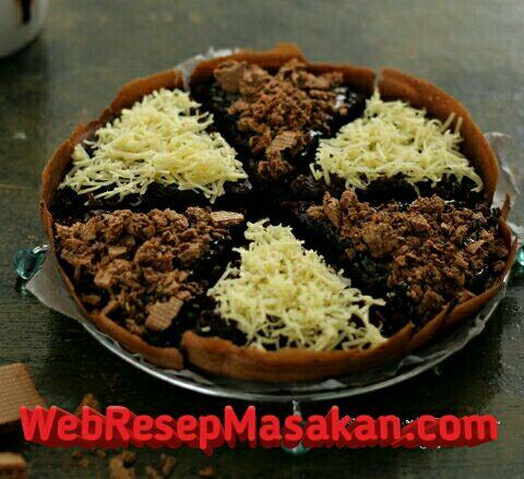 martabak brownies, resep martabak brownies teflon enak ncc, cara membuat martabak brownies teflon enak ncc,