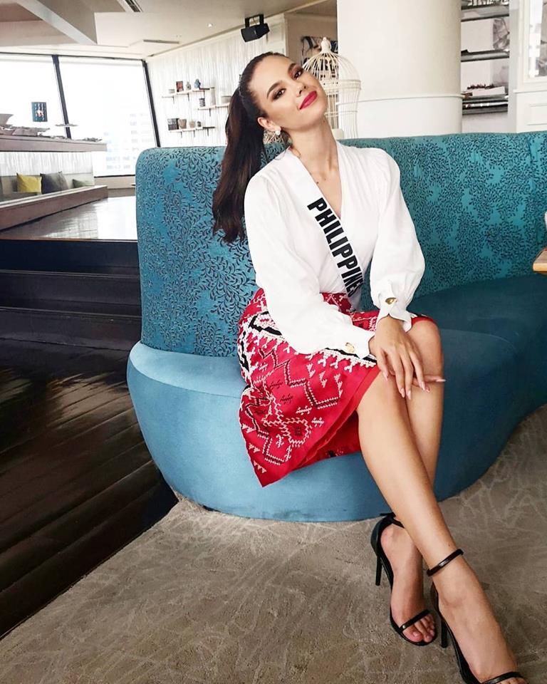 Catriona Gray wears a T'boli-inspired skirt |
