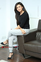 Telugu Actress Mishti Chakraborty Latest Pos in Black Top at Smile Pictures Production No 1 Movie Opening  0098.JPG