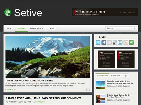 Setive Free WordPress Theme
