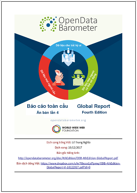 'Ấn bản lần 4 Báo cáo toàn cầu của ODB' (Hàn thử biểu Dữ liệu Mở) - bản dịch sang tiếng Việt