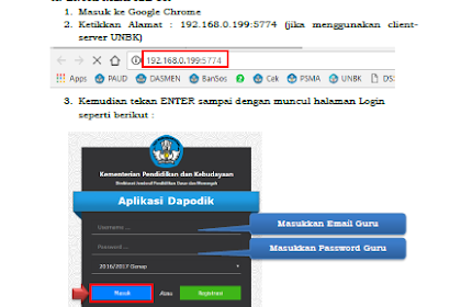 Ebook Panduan Entri Nilai Rapor, US/USBN di Dapodik