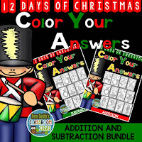 Fern Smith's Classroom Ideas Twelve Days of Christmas Addition and Subtraction Facts Bundle - Color Your Answers for Christmas at TeacherspayTeachers, TpT.