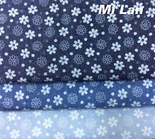 Vải jean phối hoa P47