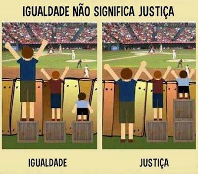 Igualdade não significa Justiça - Blog do Asno