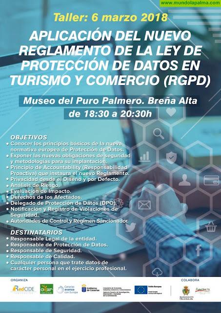 Taller Aplicación del Nuevo Reglamento de La Ley de Protección de Datos en Turismo y Comercio RGPD