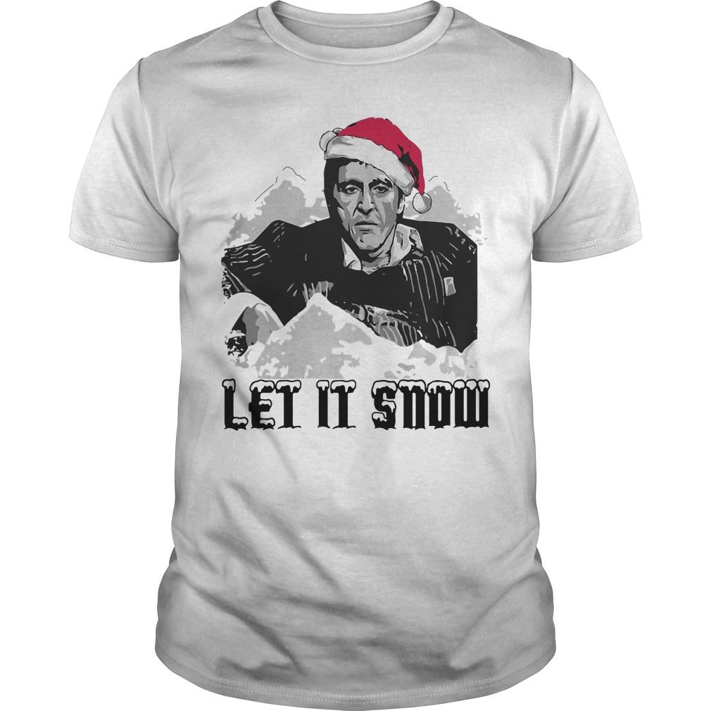 Santa Scarface Let It Snow Christmas Shirt King4tees Shop