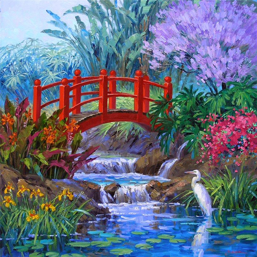 Mikki Senkarik e as suas mais belas pinturas | Arquitetura e Flores