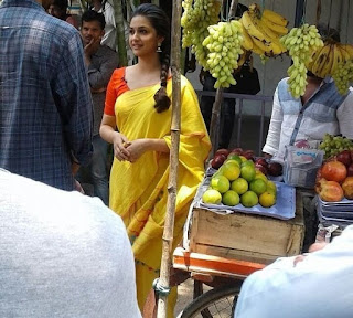 Keerthy Suresh in Yellow Saree with Cute and Awesome Lovely Smile for Memu Saitham
