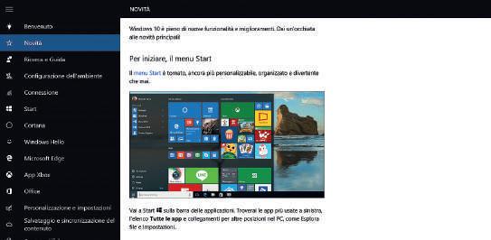 Info di base app per windows 10