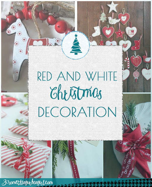 Classic red and white Christmas decoration ideas