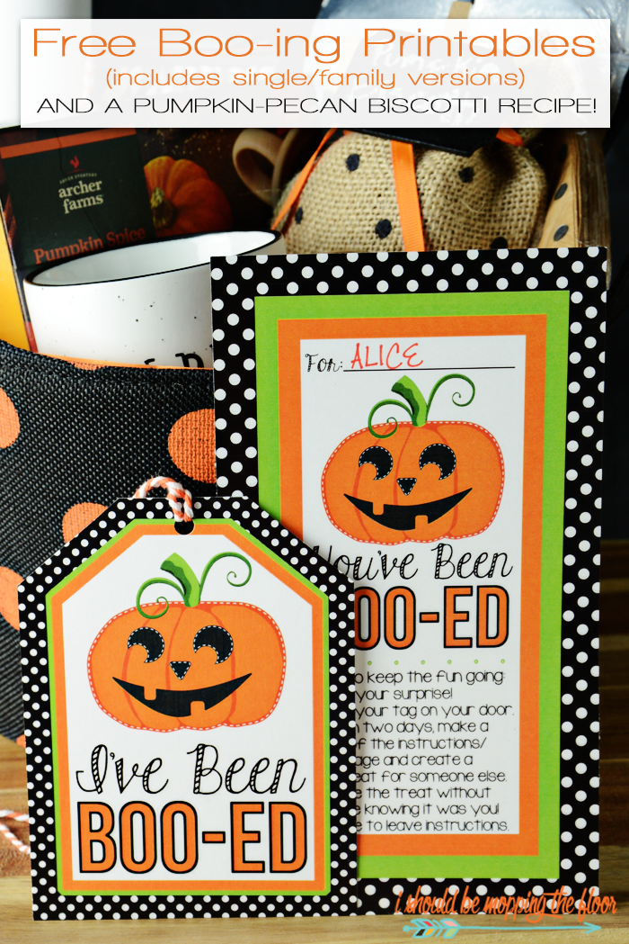 "Free Boo-ing Printables perfect for the classic Halloween Boo-It-Forward game. Includes ""I've/We've"" Been Boo-ed versions."