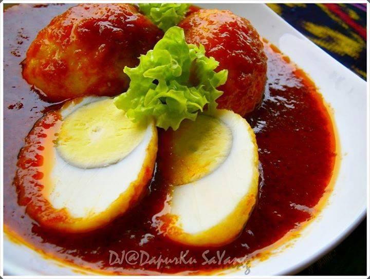 resepi telur rebus goreng masak merah mudah dan sedap