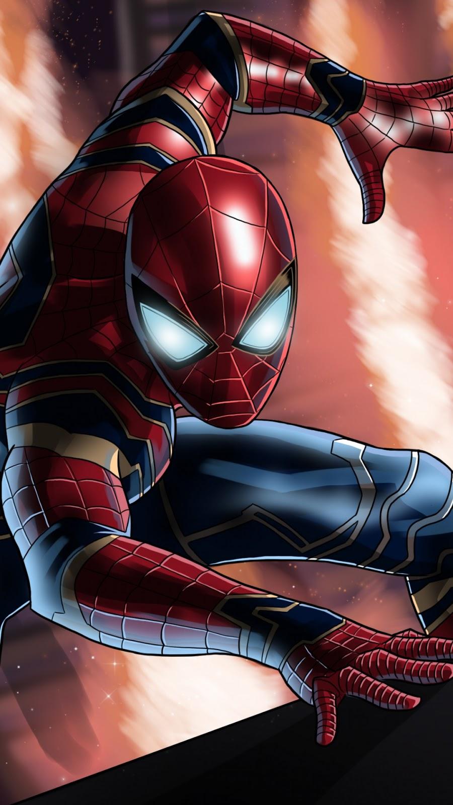 Papel de parede grátis Vingadores: Guerra Infinita Aranha de Ferro para PC, Notebook, iPhone, Android e Tablet.
