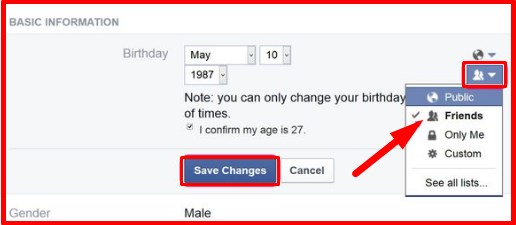 how to change your birthday on facebook if you are under 18