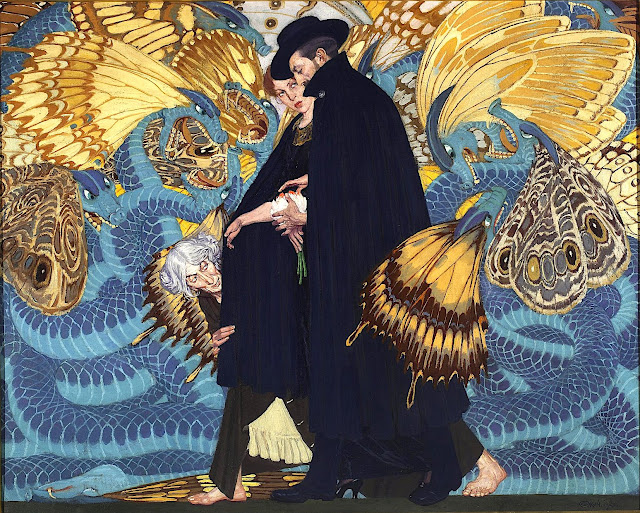 an Edward Okun painting about war