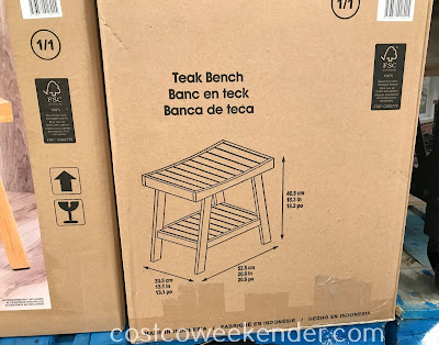 Teak Shower Bench dimensions