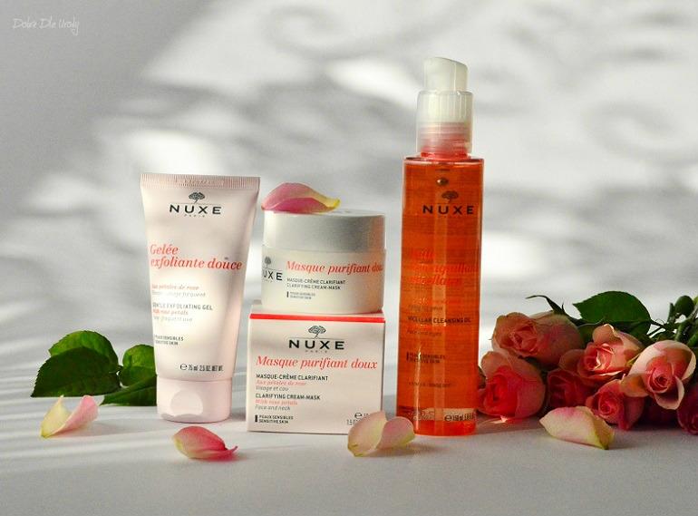 oczyszczanie z Nuxe - Olejek micelarny, Żelowy peeling i Maska-Krem recenzja