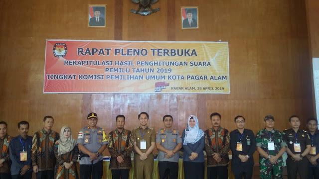 Rapat Pleno Digelar KPU Tanda Pemilu Sukses Di Pagaralam