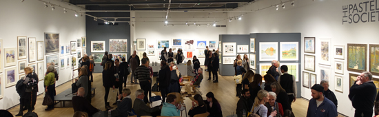 View of the Private View of the Pastel Society Annual Exhibition 2018