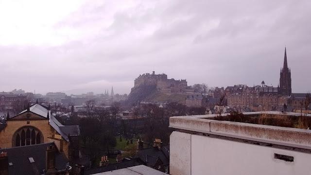 Edinburgh Castle, National Museum of Scotland roof views