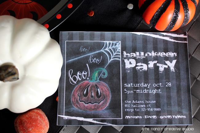 pumpkins, pumpkin illustration, hand lettering, halloween invite