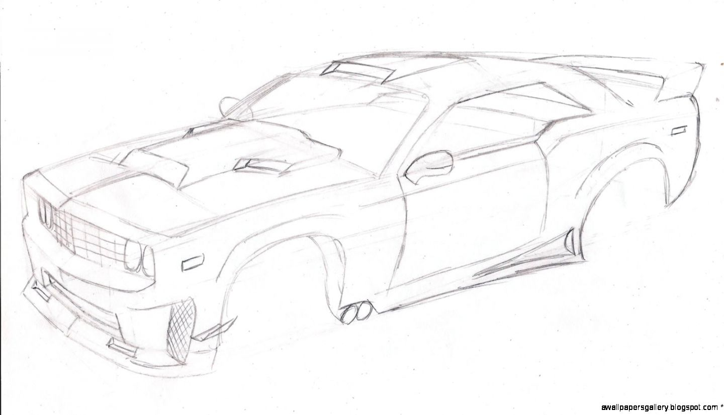 How To Draw Muscle Cars 101