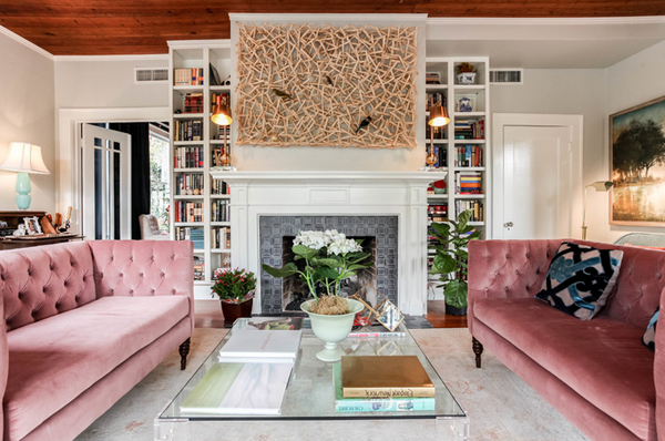interior design trend inspiration blush pink home decor accents furniture