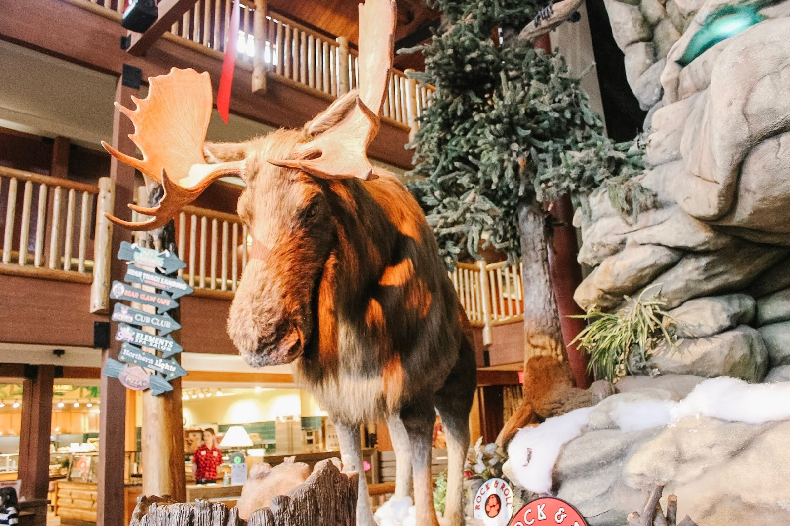 lobby at Great Wolf Lodge, Niagara Falls, Ontario, Canada