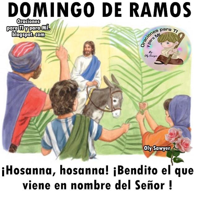 DOMINGO DE RAMOS  ¡Hossana, hosanna! ¡Bendito el que viene en nombre del Señor!