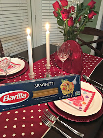A romantic Valentine's Dinner with Barilla Classic Blue Box Spaghetti