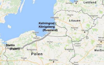 Friedensfahrt Route 2016 Route Stettin (Polen) - Kaliningrad (Russland) Tag 2 - 8.8.2016