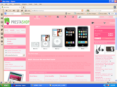 Free Prestashop 1.3.6.0 css template pink and white