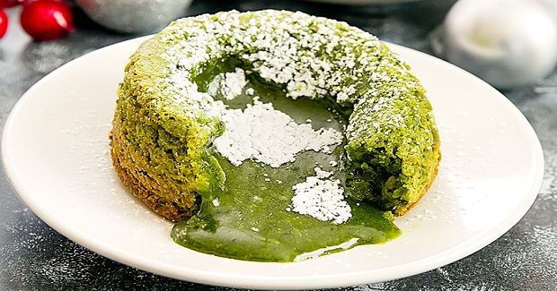 Matcha Green Tea Molten Lava Cakes Recipe