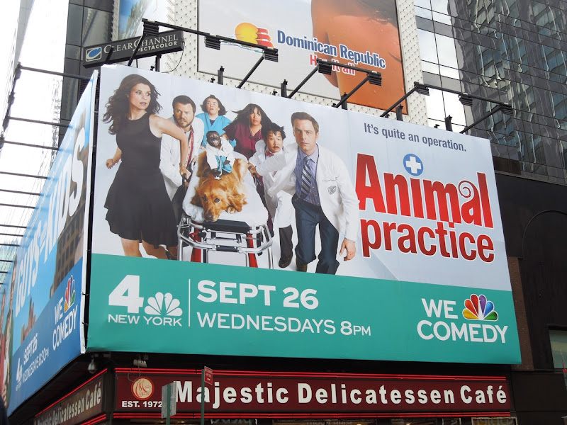 Animal Practice billboard NYC