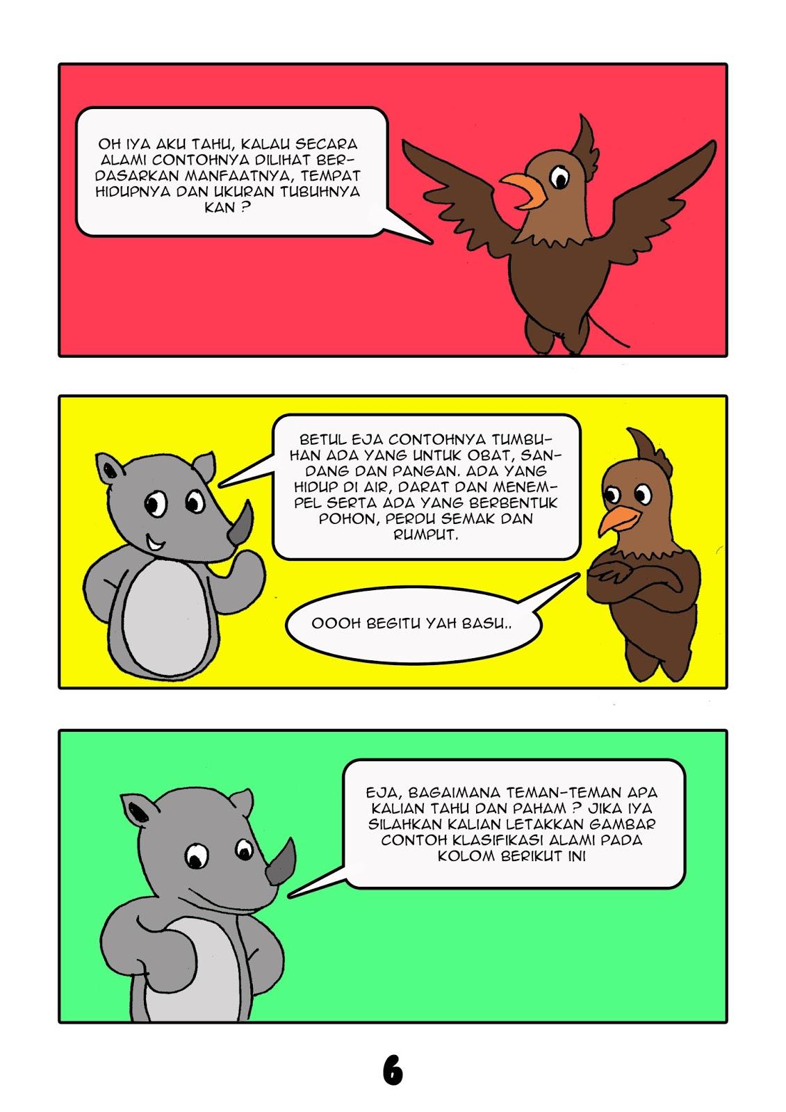 Contoh Gambar Ilustrasi Komik Hewan Yang Mudah Digambar Materi Pelajaran 9