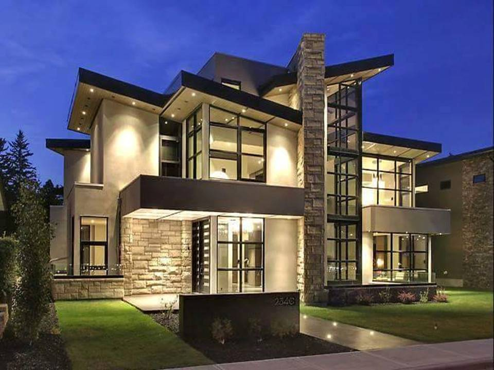 23 modern home exterior design decor units for Modern home plans canada
