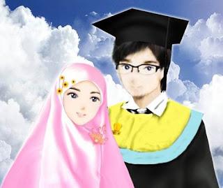 kartun muslimah romantis