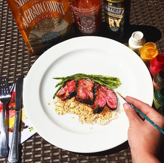Crazy Plates - Os criativos pratos pintados a mão pela artista Jacqueline Poirier