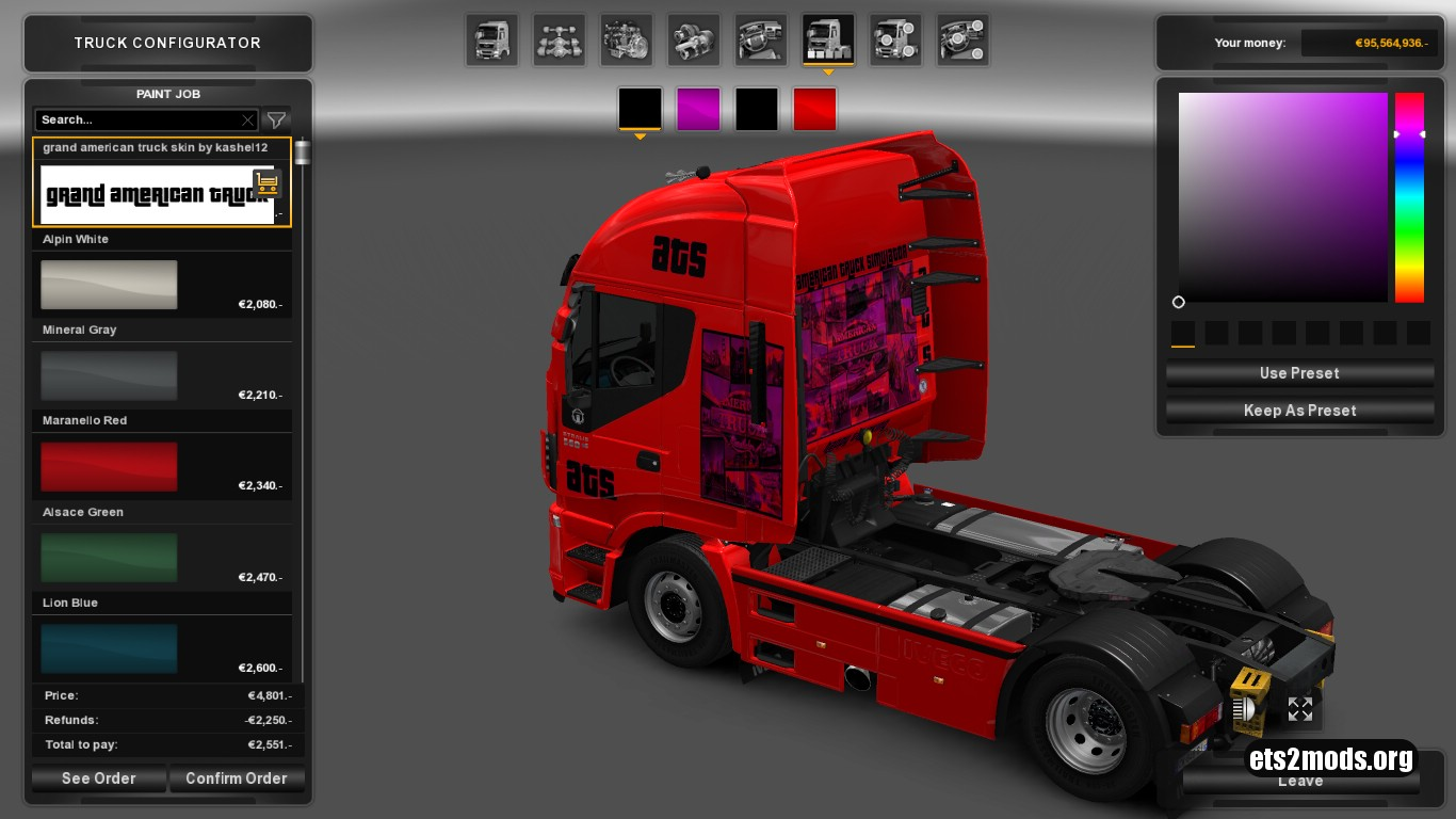 Grand American Truck Skin for Iveco Hi Way