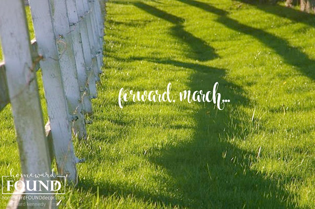 the grass isn't always greener on the other side of the fence.... forward, march!