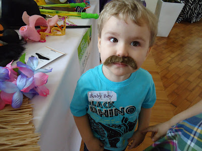 Baby Boy with an impressive Moustache
