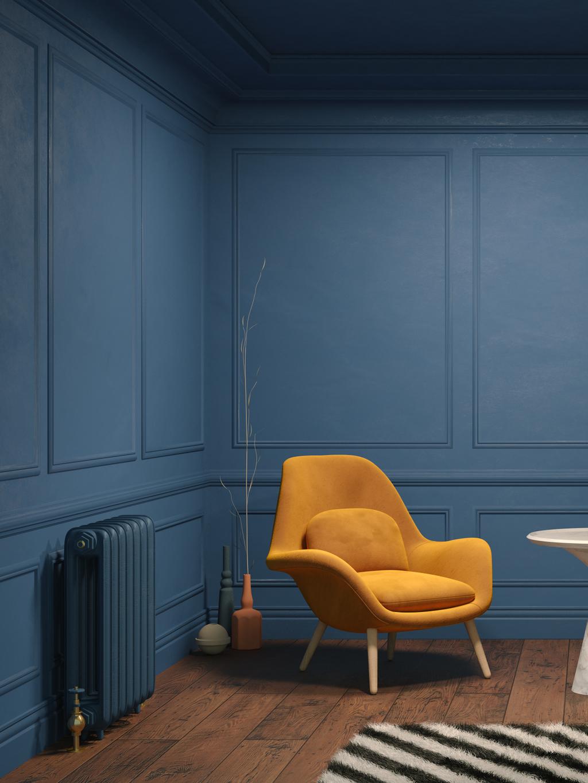 Musztardowy kolor fotelu